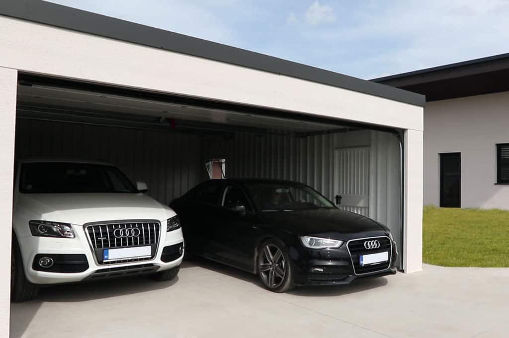 Dizajnová montovaná garáž pre dve autá