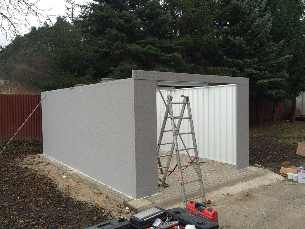 postup montáže garáže