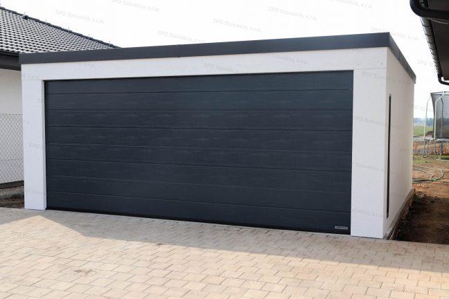 Dizajnová garáž pre dve autá s bránou Hormann