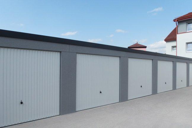Radové garáže s pultovou strechou