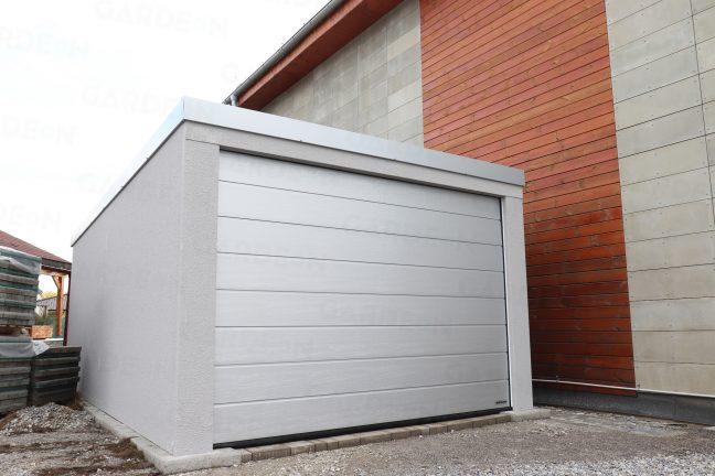 Garáž pre jedno auto v sivej farbe