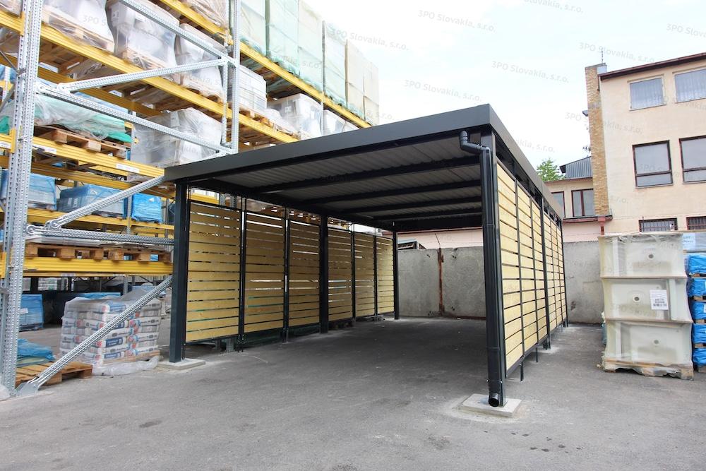 Montovaný prístrešok GARDEON pre jedno auto v stavebninách