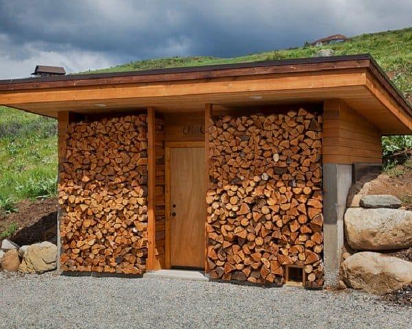 skladovanie dreva v zime