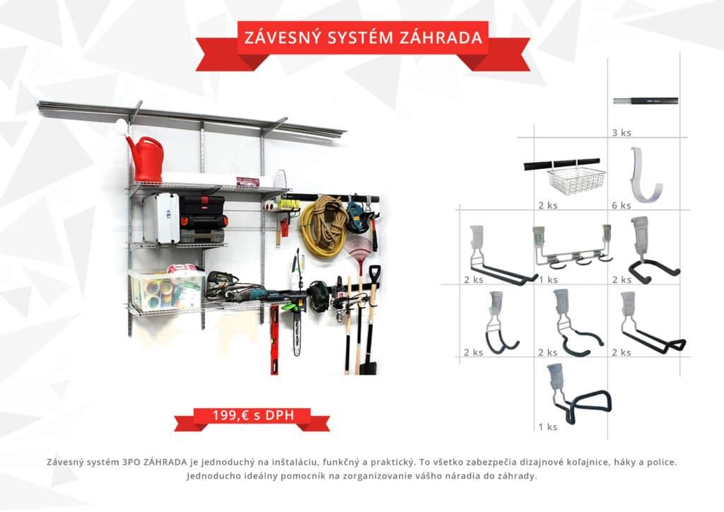 závesný systém - ZÁHRADA