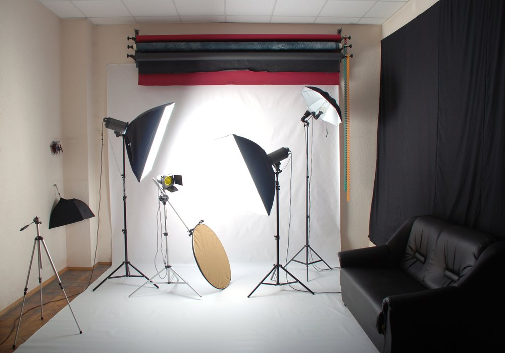 Fotoštúdio v obývačke