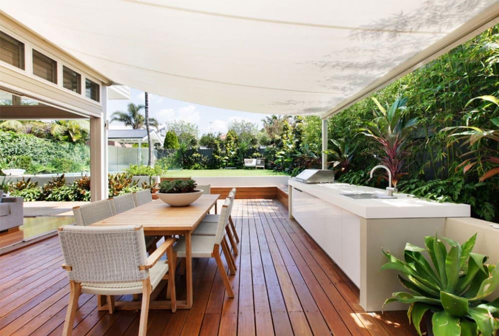 Letná kuchyňa na záhrade