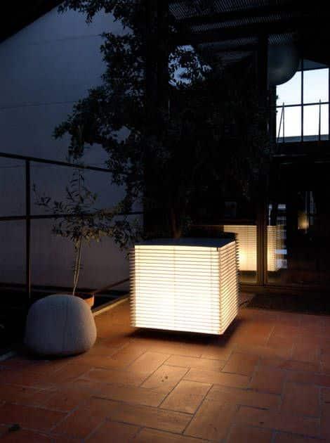 LED lampa na záhradu