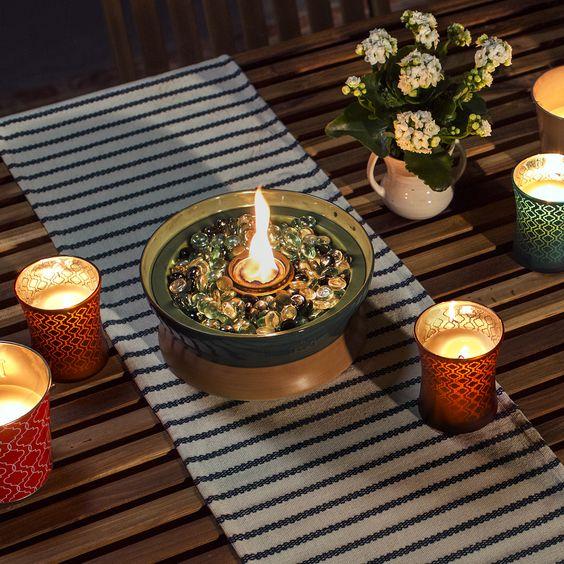Sviečky na stole