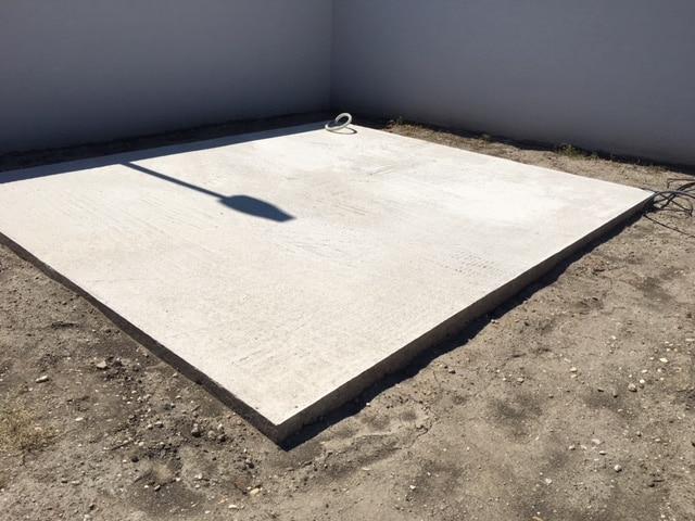 Podklad pod záhradný domček - betónová platňa