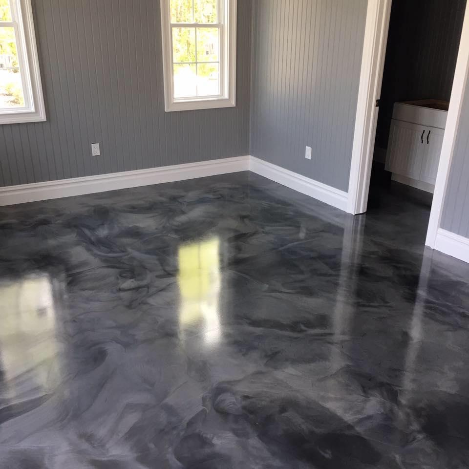 Expoxidová podlaha v sivej farbe