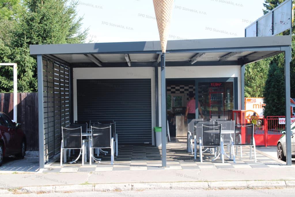 Montovaný predajný stánok KEBAB