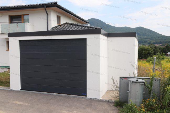 Montovaná atypická garáž s výrezom