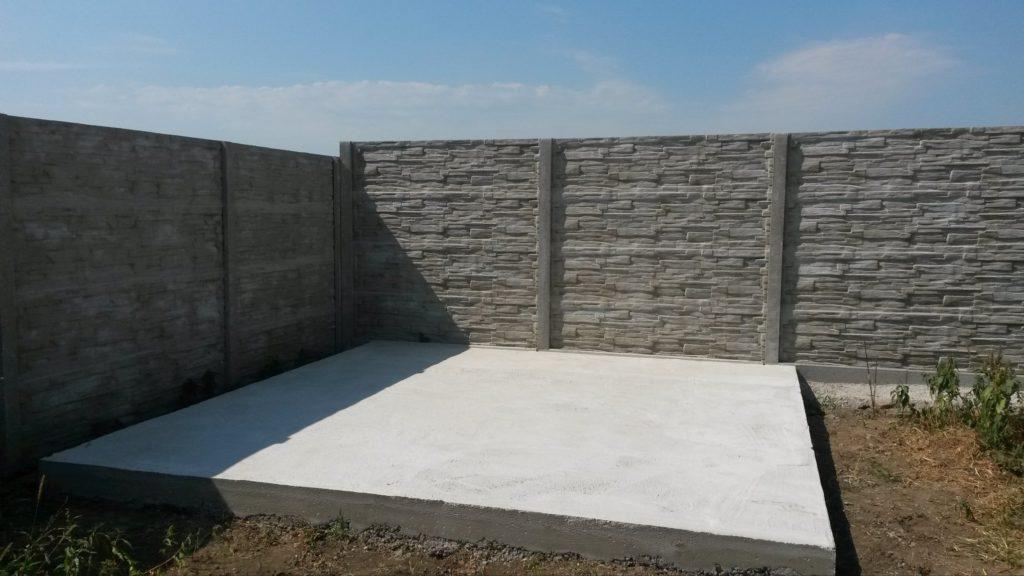 Betónová platňa pod montovaný záhradný domček