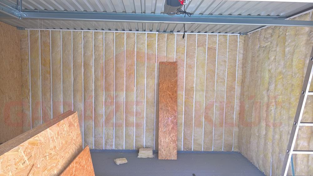 Zateplenie stien v garáži pomocou sklenej vaty