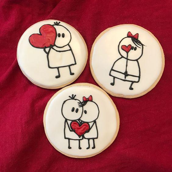 Valentínske koláčiky