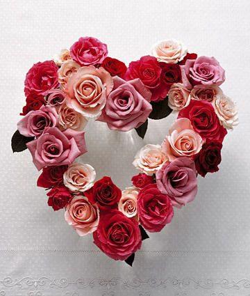 Srdce z ruží