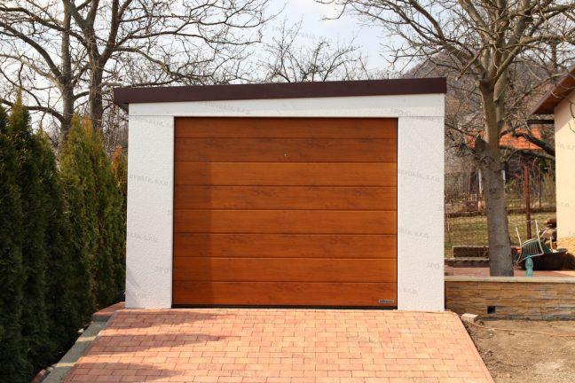 Montovaná garáž GARDEON pre jedno auto so spádom na ľavú stranu