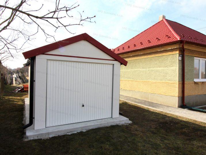 Montovaná garáž GARDEON pre jedno auto so sedlovou strechou