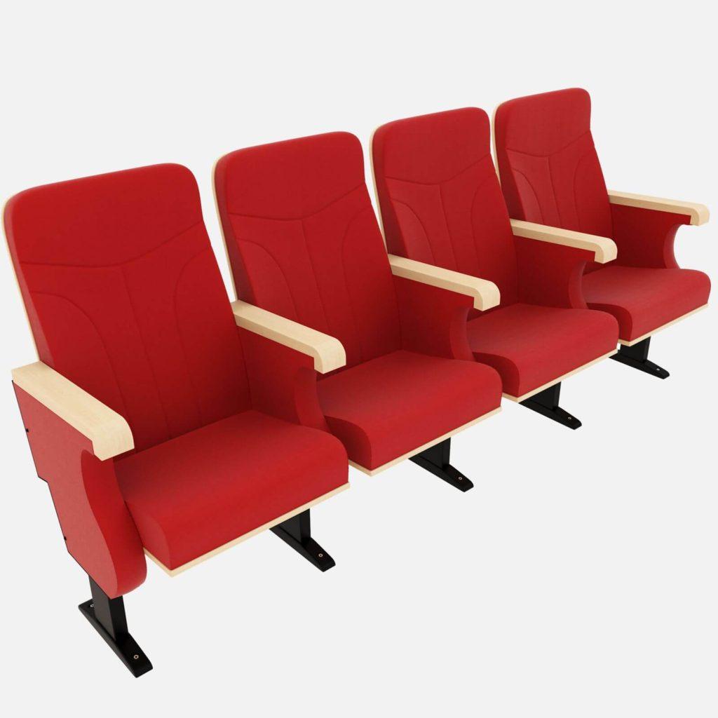 Červené sedačky do kina