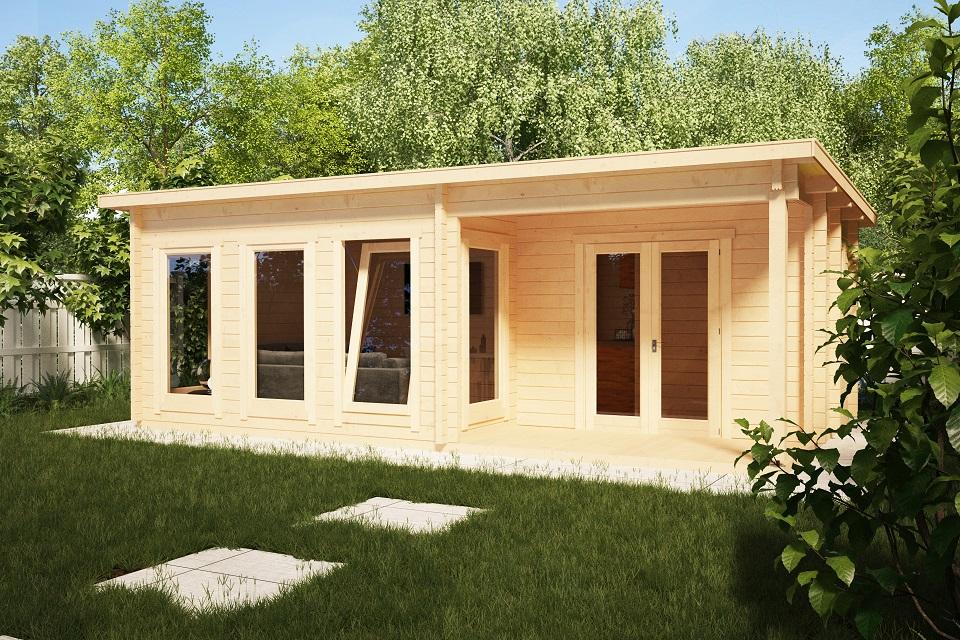 Drevený záhradý domček