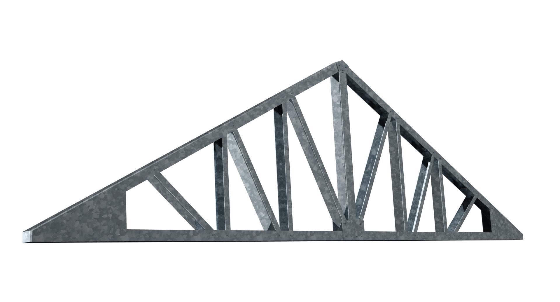 Nosník montovanej garáže so sedlovou strechou