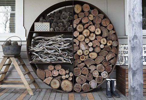 Úložný priestor na drevo