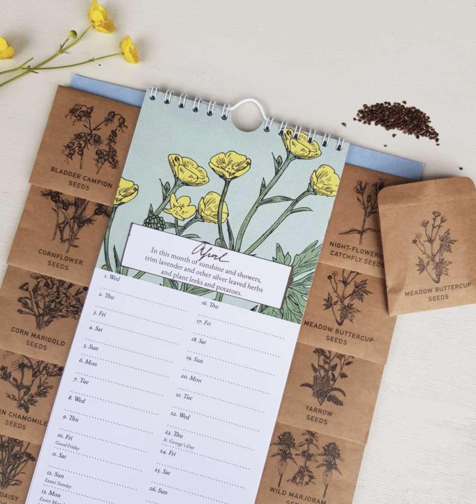 Kalendár s kvetmi