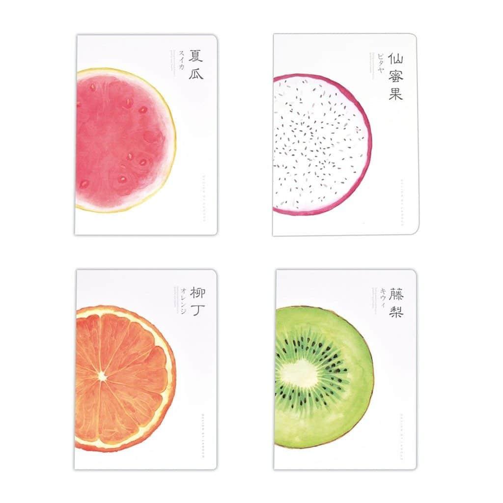 Zápisník s potlačou kiwi, pomaranča