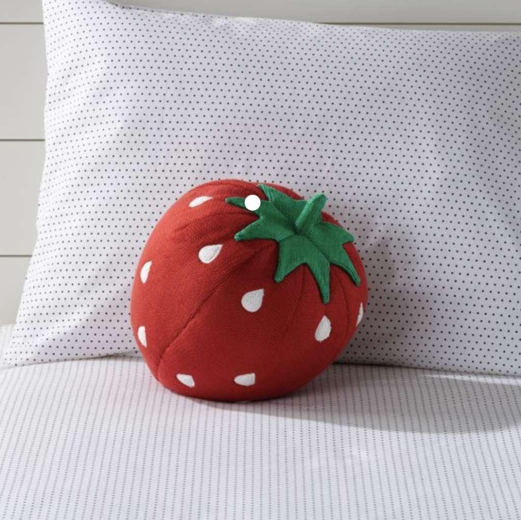 Vankúš v tvare jahody