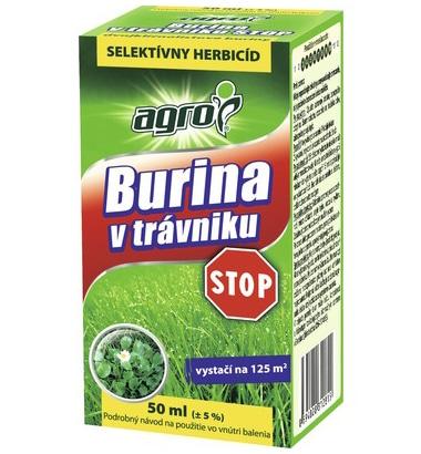 Agro selektívny herbicíd - Burina v trávniku