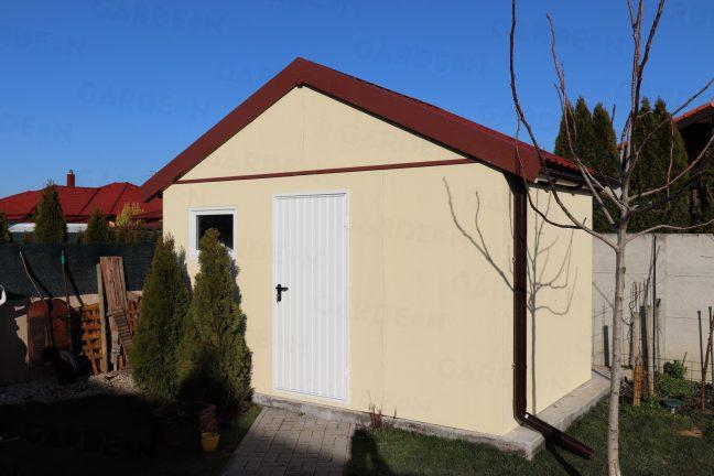 Montovaný záhradný domček so sedlovou strechou