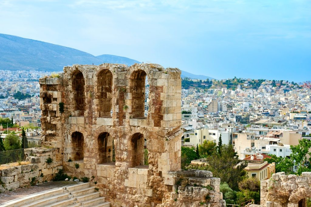 Kamenná budova v Aténach