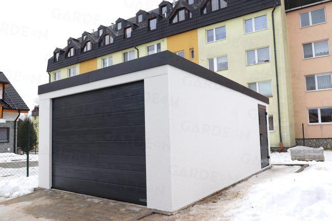Montovaná garáž pre jedno auto pri bytovke