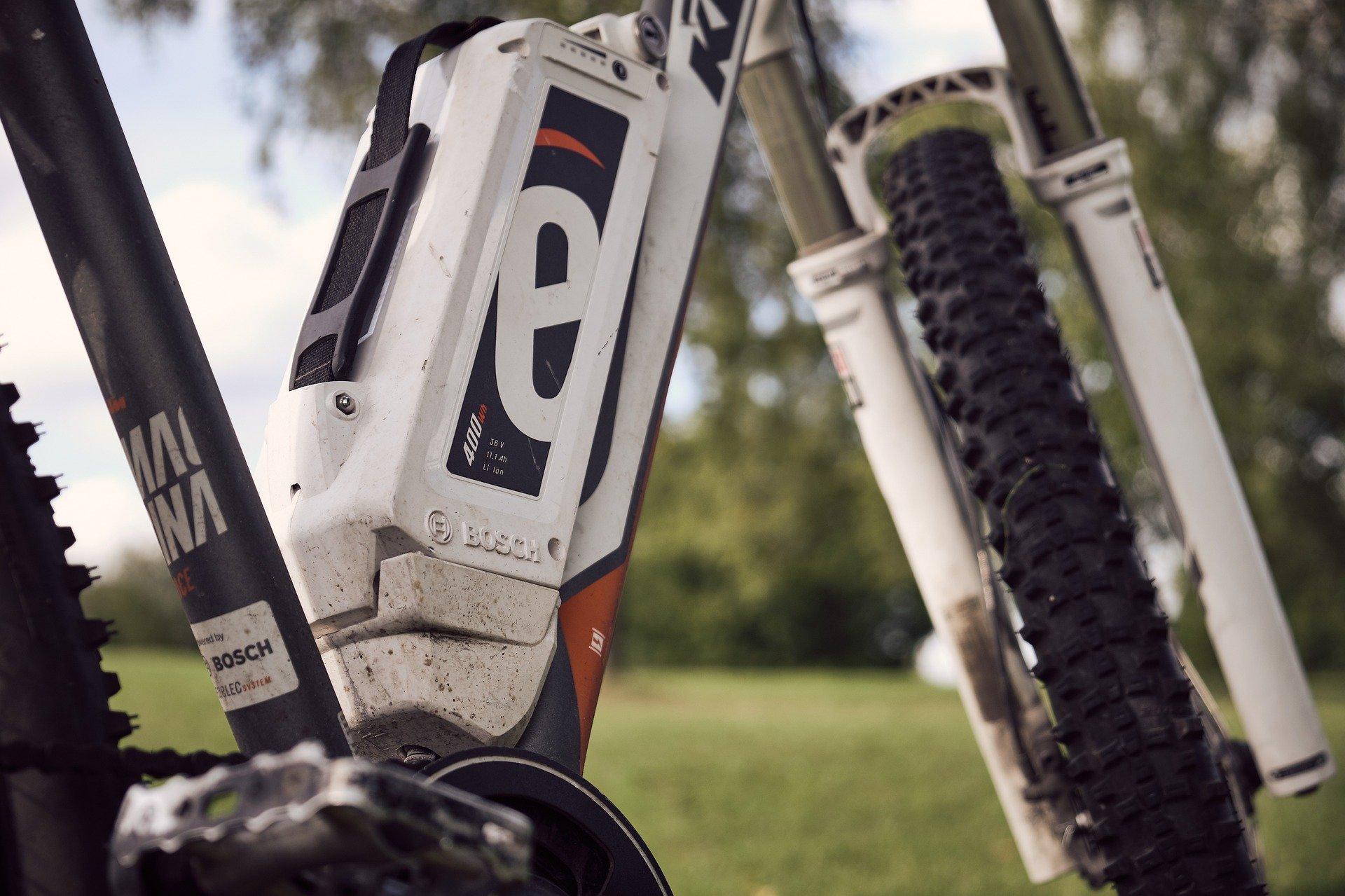 Batéria na bicykli