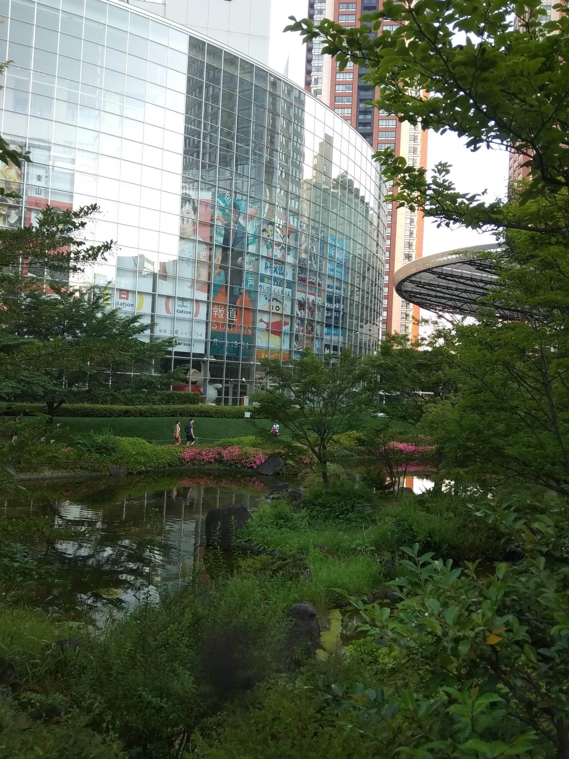 Japonský park v meste