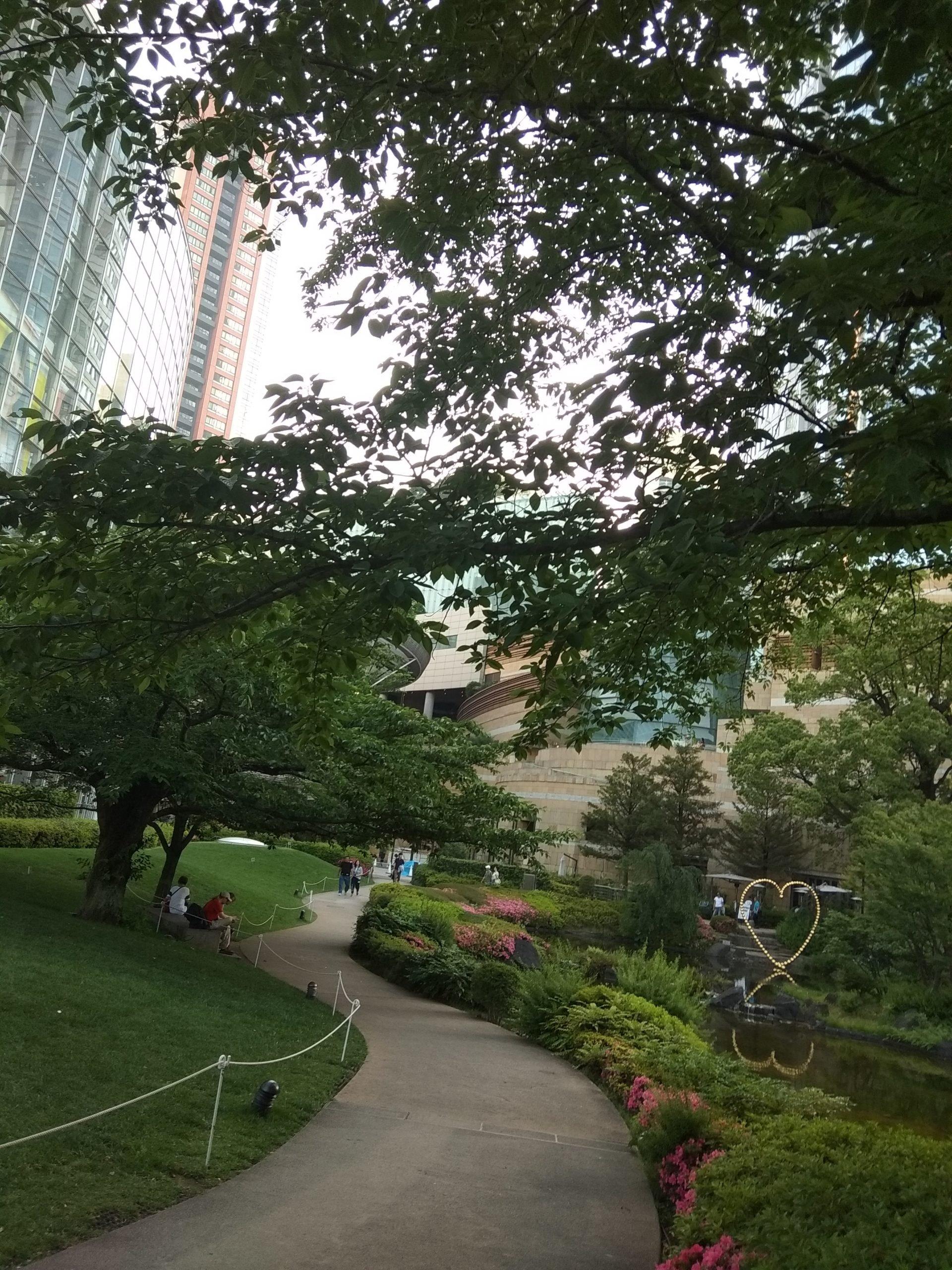 Mestský park v Japonsku