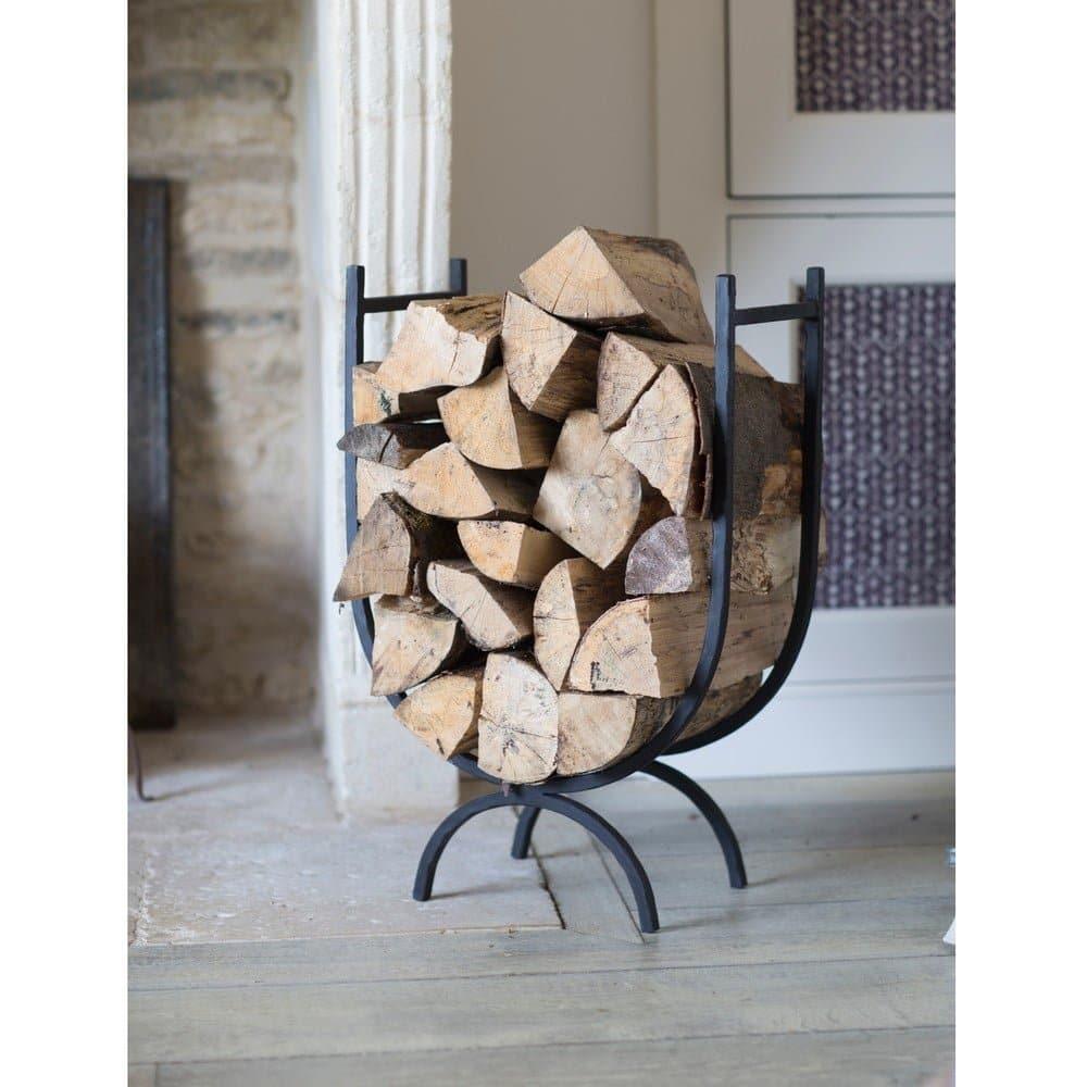 Kovový stojan na drevo