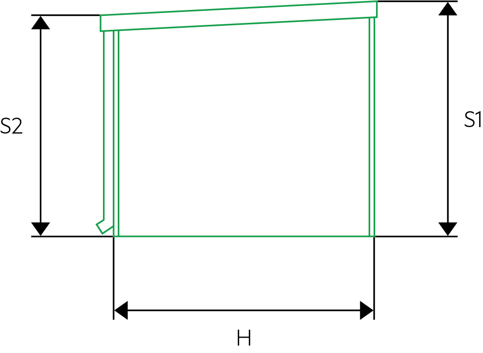 Hĺbka záhradného domčeka