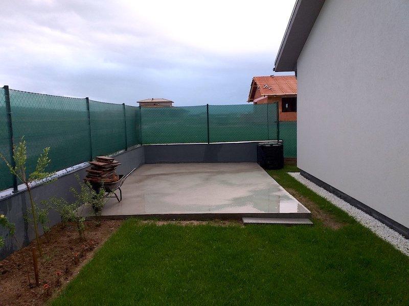 Betónová platňa pod záhradný domček
