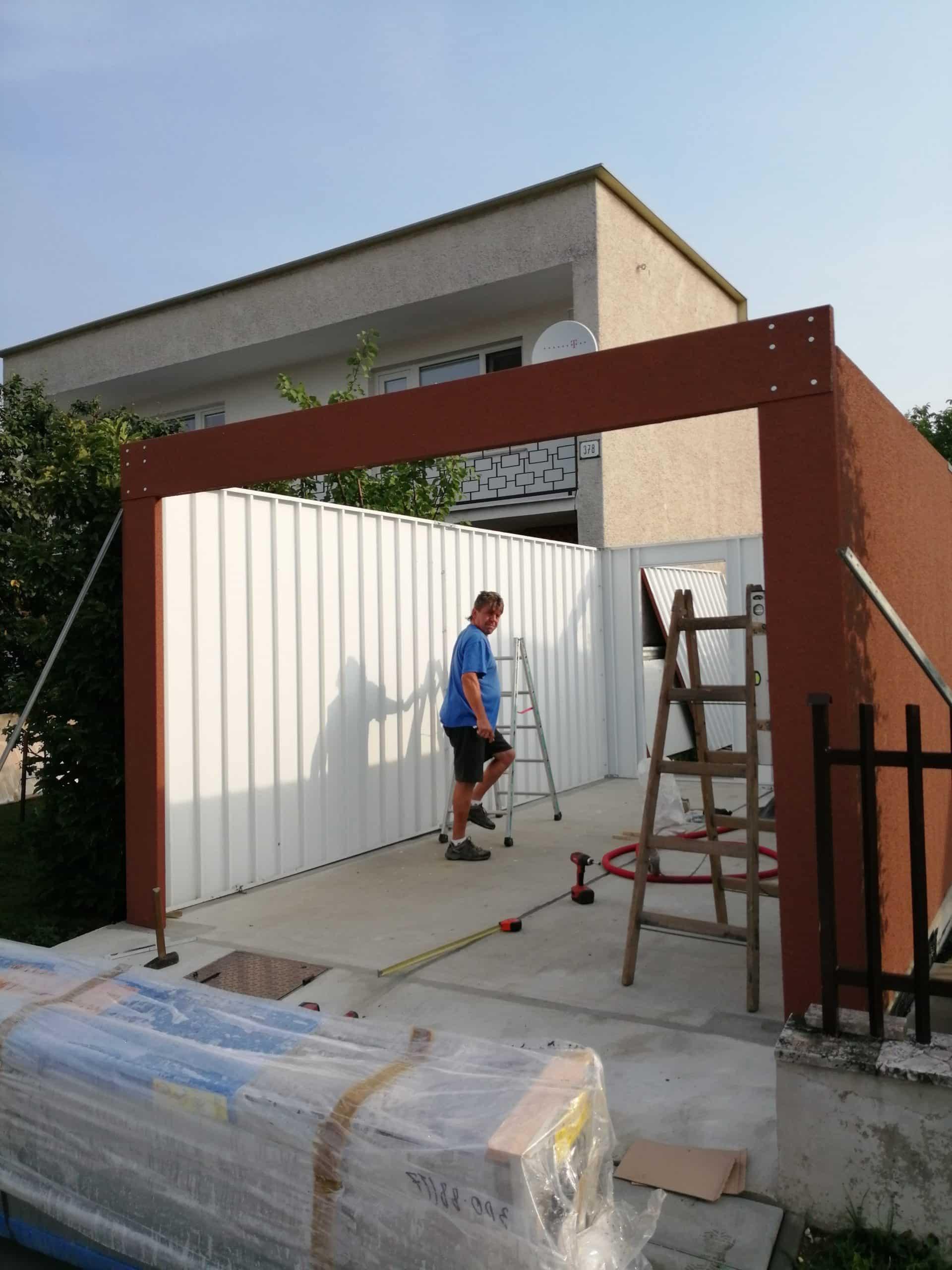 Montáž garáže