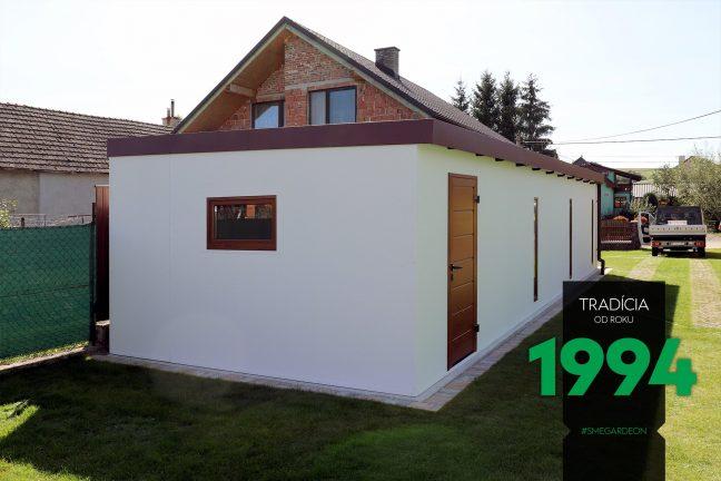 Atypická garáž z ľavej strany