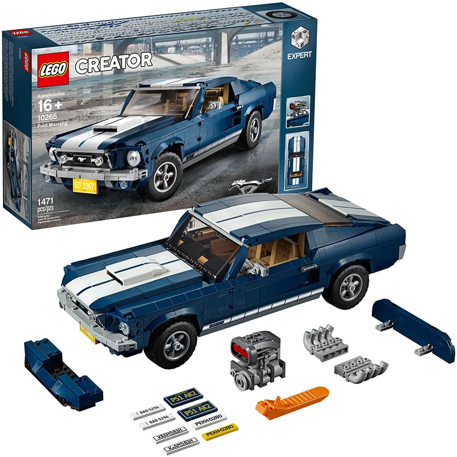 Modell auta Ford Mustang z Lego Creator
