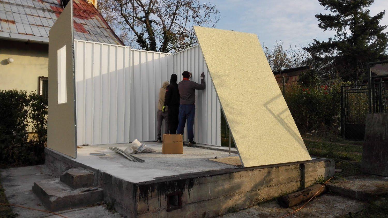 Priebeh stavby záhradného domčeka