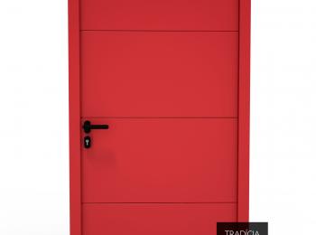 Dvere Hörmann LPU 42 v rubínovo červenej farbe
