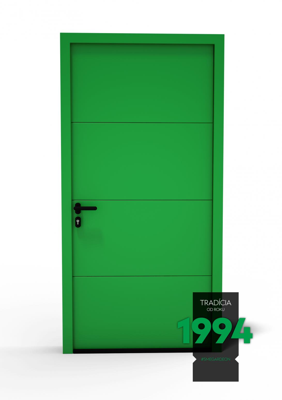 Dvere Hörmann LPU 42 v gardeon zelenej farbe