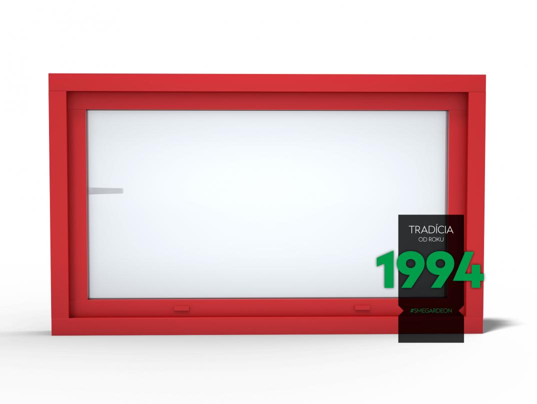 Okno GARDEON v rubínovo červenej farbe