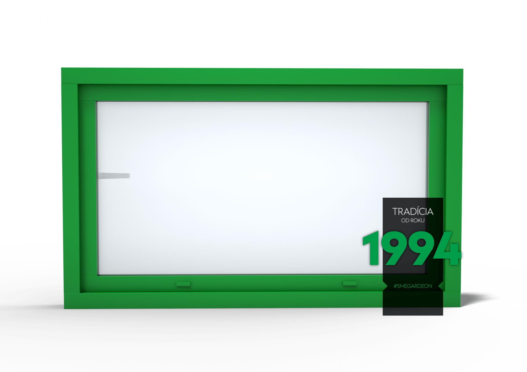 Okno GARDEON v gardeon zelenej farbe