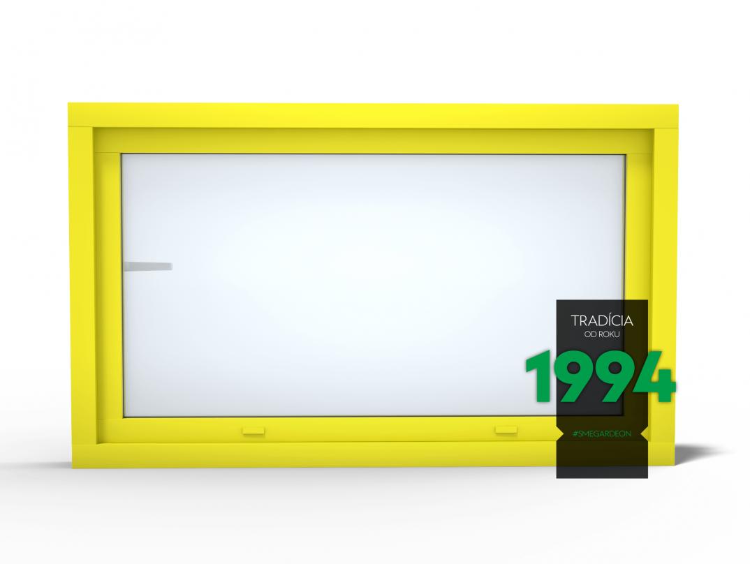 Okno GARDEON v citrónovo žltej farbe