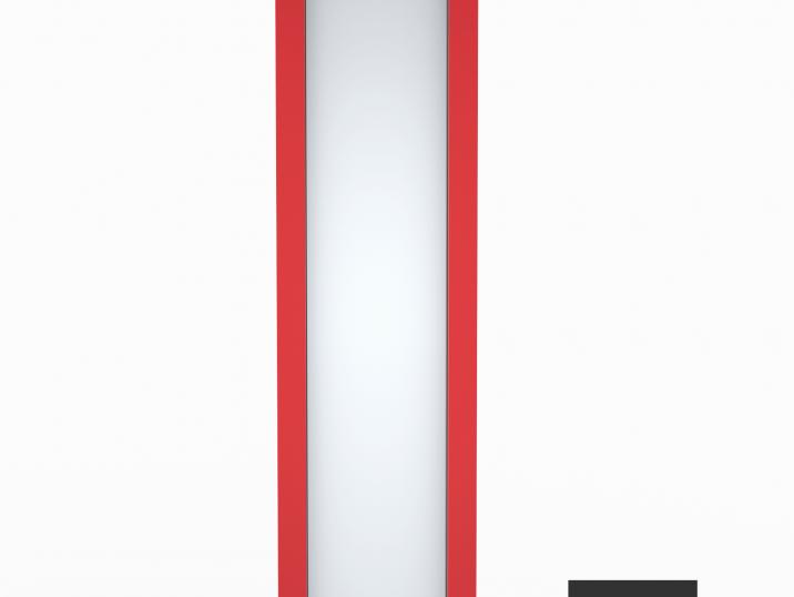 Svetlík GARDEON v rubínovo červenej farbe