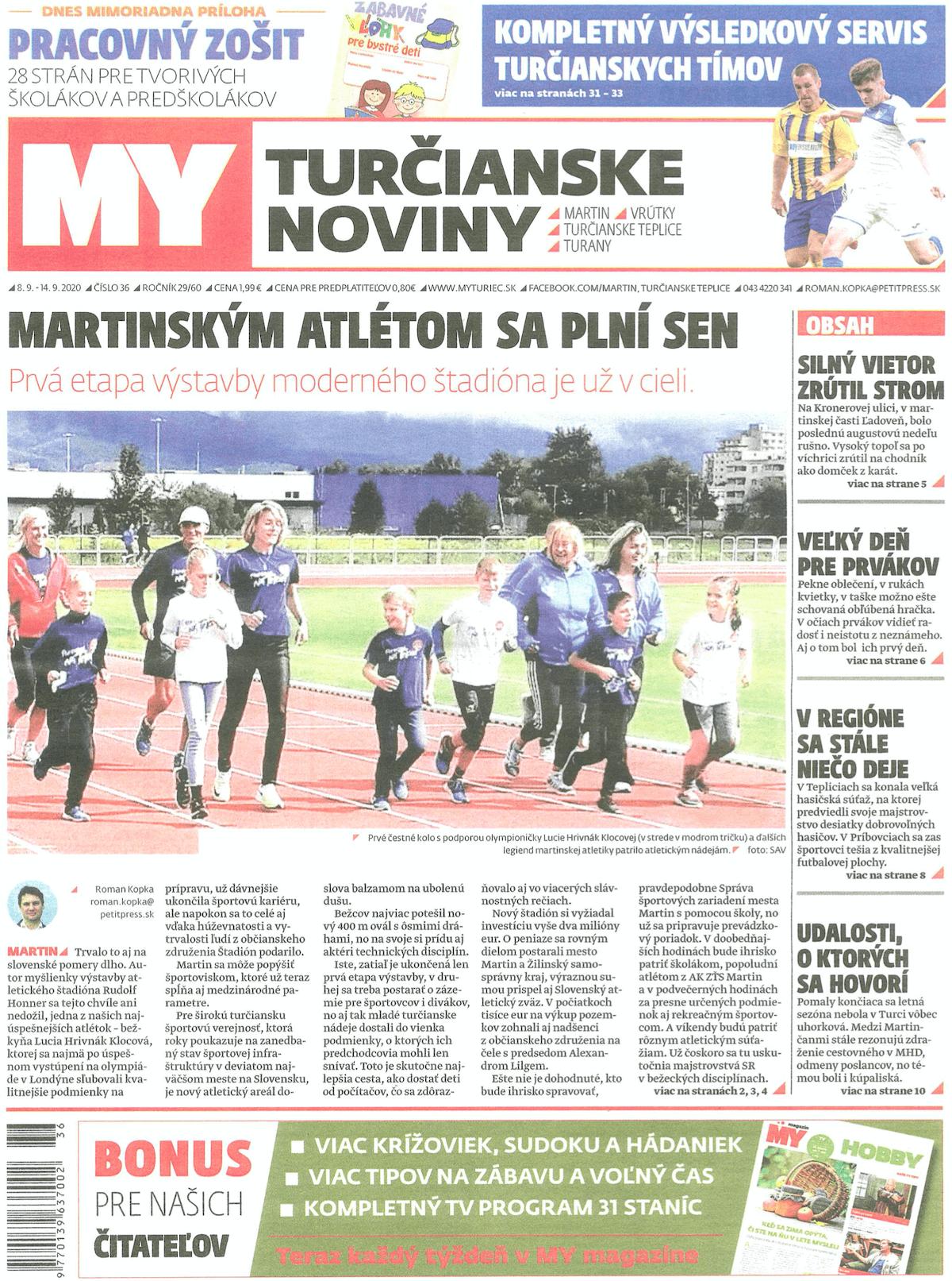 Titulka novín Turčianske Noviny